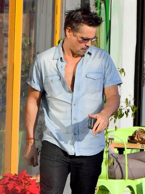 Dress shirt, Denim, Shirt, Jeans, Pocket, Waist, Trunk, Belt, Button, Curtain,
