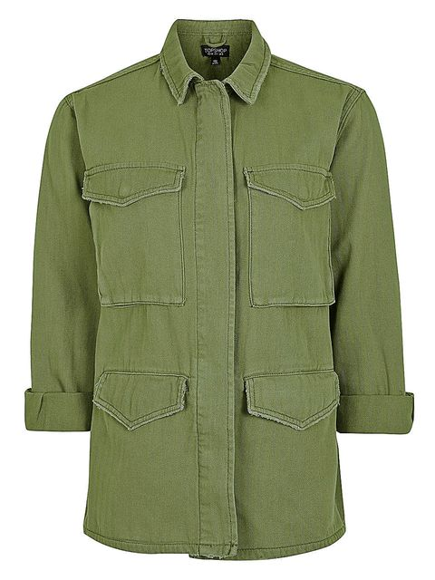 Clothing, Outerwear, Green, Sleeve, Coat, Jacket, Collar, Overcoat, Pocket, Button,