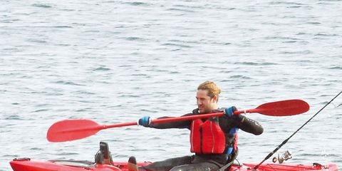 Clothing, Recreation, Water, Kayaking, Kayak, Boating, Canoeing, Outdoor recreation, Mammal, Boat,