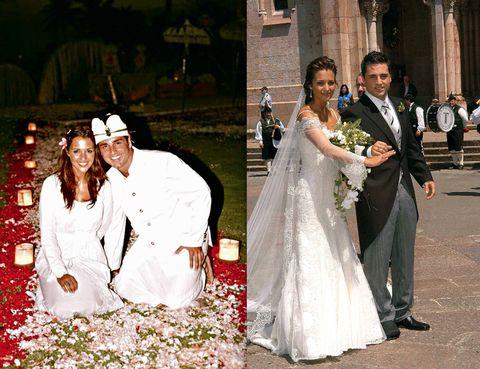 Clothing, Event, Trousers, Coat, Bridal clothing, Petal, Dress, Photograph, Bride, Outerwear,