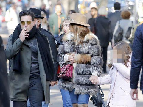Coat, Jacket, Trousers, Winter, Textile, Hat, Jeans, Outerwear, Street fashion, Street,