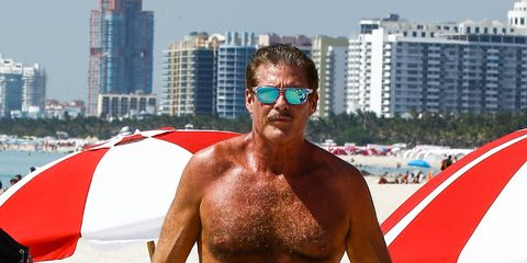 Eyewear, Vision care, Human body, Facial hair, Chest, Barechested, Sunglasses, Summer, Trunk, Muscle,