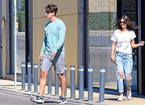 Clothing, Footwear, Leg, Trousers, Denim, Textile, Jeans, Human leg, Standing, White,