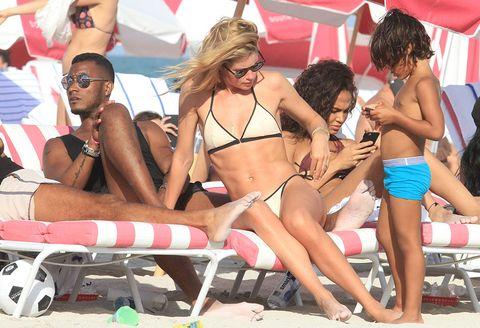 Eyewear, Glasses, Vision care, Fun, Brassiere, Bikini, People on beach, Summer, Sunglasses, Swimsuit top,