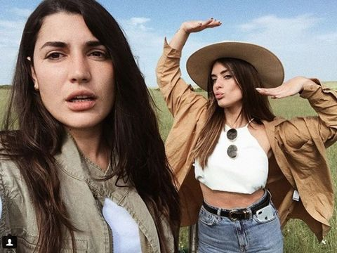 Mouth, Denim, Hat, Jeans, Fashion accessory, Costume accessory, Youth, Fashion, Sun hat, Long hair,