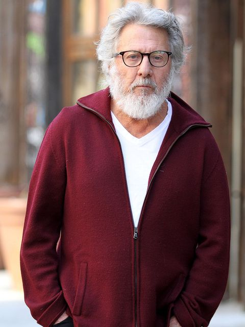 Outerwear, Facial hair, Glasses, Beard, Elder, Jacket,