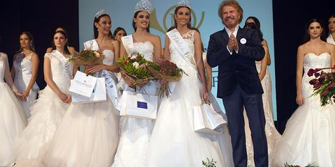 Bride, Wedding dress, Gown, Dress, Bridal clothing, Event, Marriage, Ceremony, Wedding, Fashion,