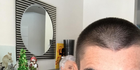 Hair, Face, Forehead, Eyebrow, Facial hair, Hairstyle, Head, Selfie, Nose, Buzz cut,