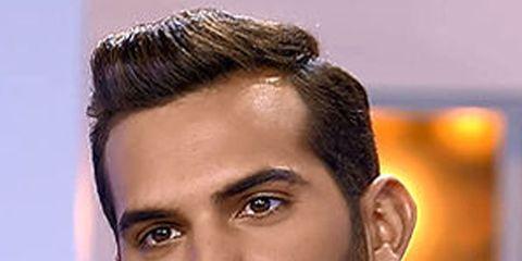 Hair, Ear, Facial hair, Lip, Cheek, Hairstyle, Eye, Chin, Forehead, Eyebrow,