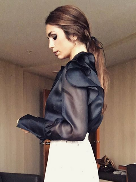 Clothing, Leather, Beauty, Hairstyle, Fashion, Shoulder, Jacket, Leather jacket, Outerwear, Fashion model,