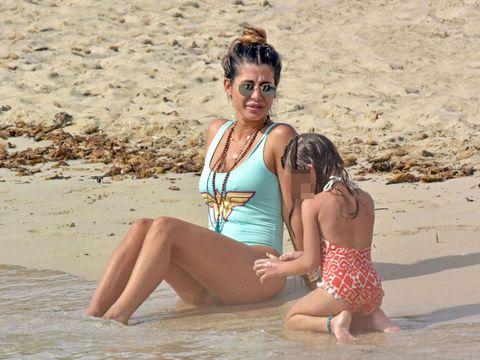 People on beach, Bikini, Swimwear, Vacation, Fun, Clothing, Swimsuit top, Summer, Beauty, Beach,