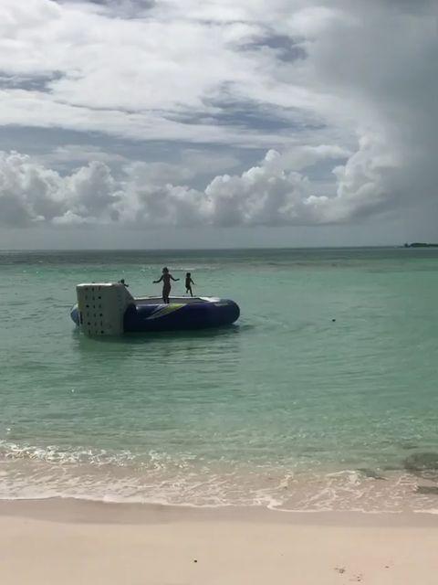 Sea, Vehicle, Sky, Beach, Ocean, Vacation, Water transportation, Horizon, Caribbean, Calm,