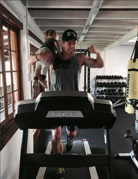 Shoulder, Cap, Elbow, Exercise machine, Knee, Muscle, Wrist, Exercise, Baseball cap, Gym,