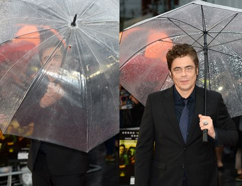 Umbrella, Coat, Trousers, Dress shirt, Outerwear, Suit, Blazer, Rain, Pocket, Tuxedo,