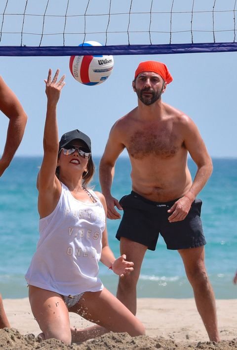 Ball, Fun, Sports equipment, Net sports, Volleyball, Leisure, Sand, Ball game, People on beach, Summer,