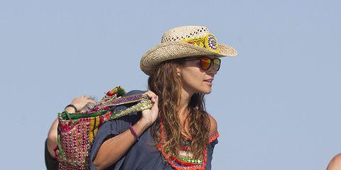 Eyewear, Sunglasses, People in nature, Hat, Summer, Headgear, Costume accessory, Goggles, Sun hat, Hippie,