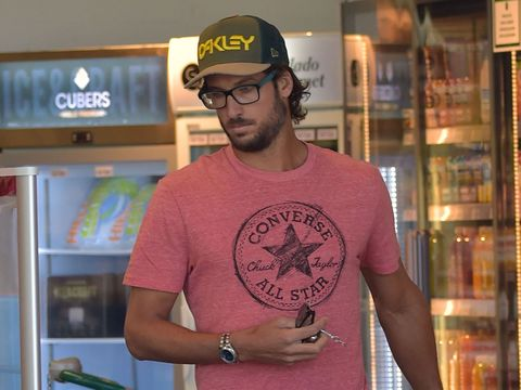 T-shirt, Cool, Tattoo, Arm, Sleeve, Neck, Top, Font, Facial hair, Glasses,