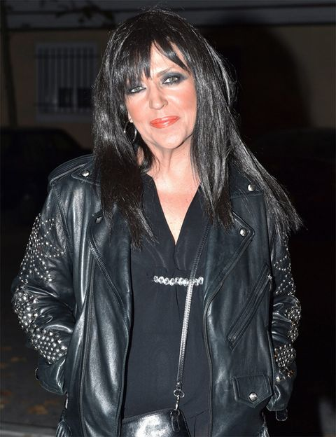 Jacket, Textile, Outerwear, Black hair, Leather, Leather jacket, Fashion, Black, Street fashion, Eyelash,