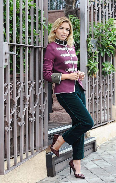 Clothing, Leg, Product, Joint, Outerwear, Human leg, Mammal, Style, Street fashion, Purple,