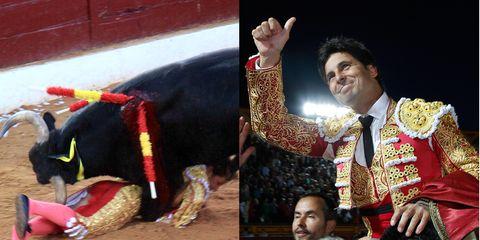 Tradition, Performing arts, Interaction, Matador, Bullring, Bull, Temple, Performance, Bullfighting, Working animal,