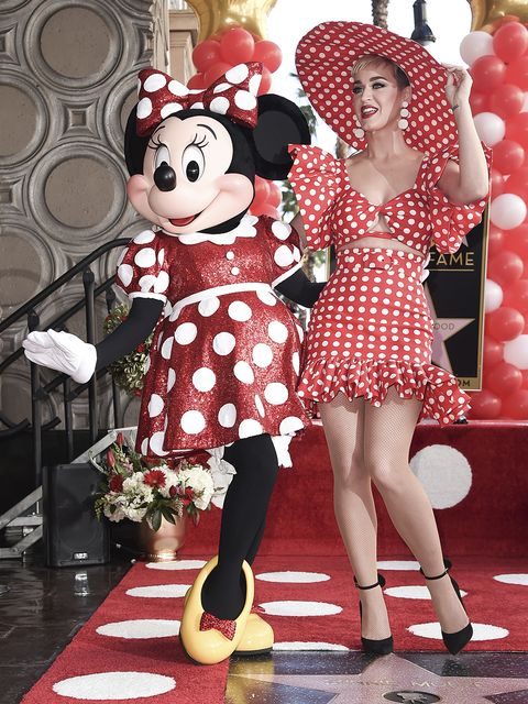 Red, Balloon, Dress, Flooring, Pattern, Polka dot, Costume accessory, Party supply, One-piece garment, Day dress,