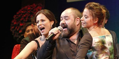 Face, Head, Nose, Eye, Microphone, Audio equipment, Singing, Song, Musical ensemble, Singer,