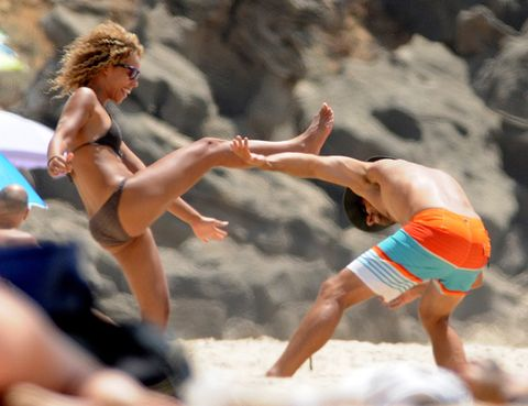 Fun, Human leg, board short, Summer, People in nature, People on beach, Trunks, Muscle, Barefoot, Vacation,