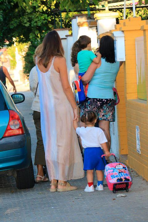 People, Yellow, Fashion, Snapshot, Dress, Summer, Leg, Walking, Vehicle, Child,