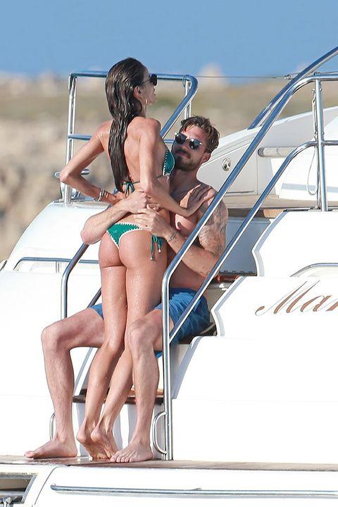 Bikini, Vacation, Clothing, Swimwear, Undergarment, Leg, Luxury yacht, Sun tanning, Fun, Summer,