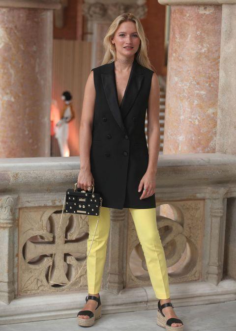 Clothing, Fashion model, Fashion, Street fashion, Snapshot, Footwear, Outerwear, Formal wear, Suit, Shoe,