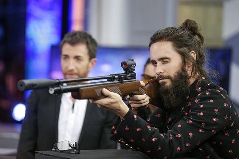 Facial hair, Beard, Recreation, Shooting sport, Shooting, Moustache, Games,