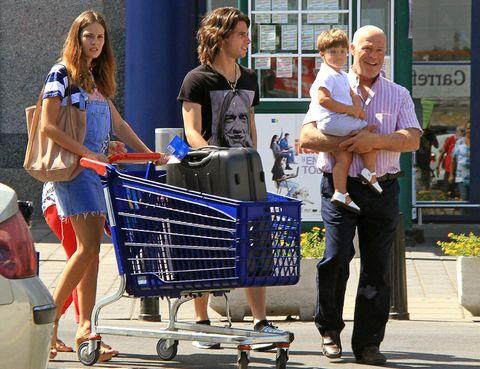 Footwear, Flowerpot, Shopping cart, Cart, Houseplant, Rolling, Cleanliness, Shopping, Business,