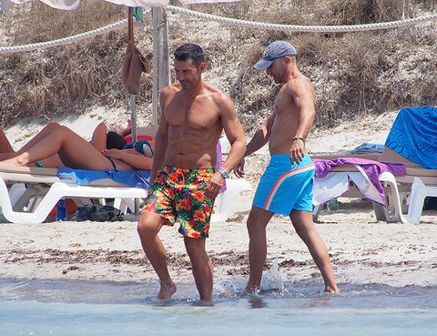Fun, board short, Hat, People on beach, Summer, People in nature, Trunks, Shorts, Holiday, Barefoot,