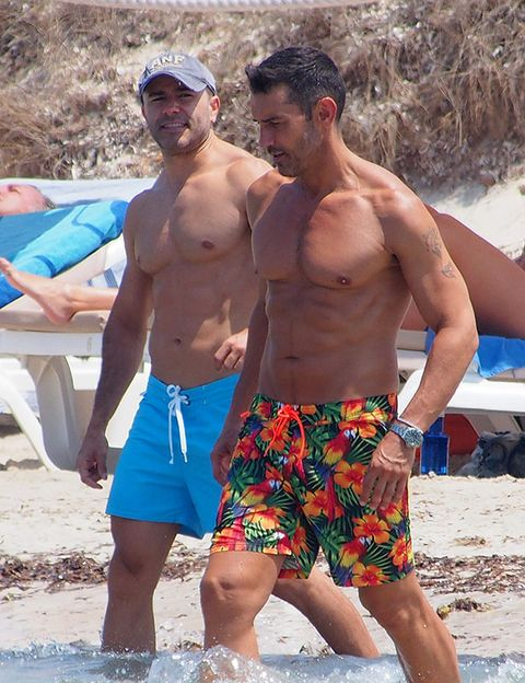 board short, Barechested, People in nature, Active shorts, Summer, Chest, Trunks, Hat, Shorts, Muscle,