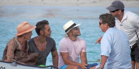 Hat, Recreation, Boat, Cap, Outdoor recreation, Fashion accessory, Headgear, Watercraft, Vacation, Sun hat,