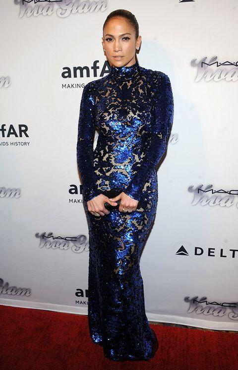 Style, Fashion, Electric blue, Cobalt blue, Fashion model, Waist, Fashion design, One-piece garment, Haute couture, Makeover,