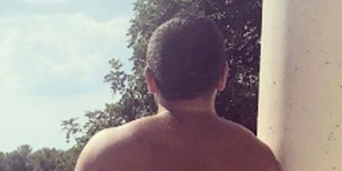 Hairstyle, Human body, Shoulder, Standing, Photograph, Joint, Back, Mammal, Barechested, Summer,