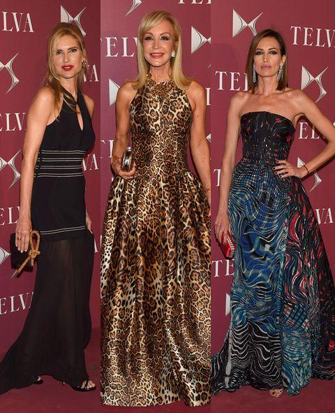 Clothing, Human, Dress, Flooring, Red, Formal wear, Style, Waist, One-piece garment, Fashion,