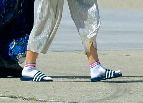 White, Street fashion, Footwear, Blue, Shoe, Leg, Human leg, Fashion, Ankle, Electric blue,