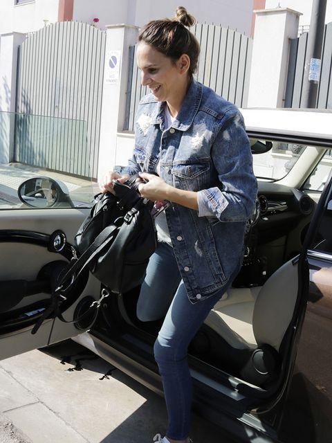 Motor vehicle, Automotive design, Vehicle, Vehicle door, Car, Leather, Jeans, Design, Jacket, Outerwear,