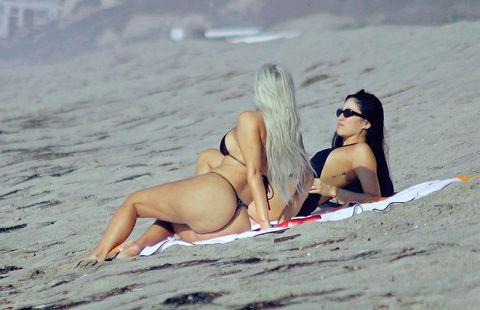 Bikini, Sun tanning, Swimwear, Beauty, Vacation, Summer, Beach, Fun, Long hair, Sea,