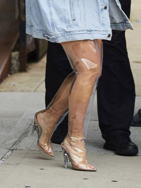 Footwear, Leg, Brown, Human leg, Shoe, Joint, Outerwear, Denim, Style, High heels,