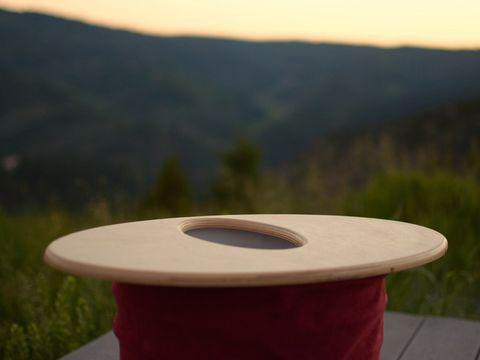Wood, Highland, Ecoregion, Wood stain, Hardwood, Biome, Morning, Composite material, Circle, Cylinder,
