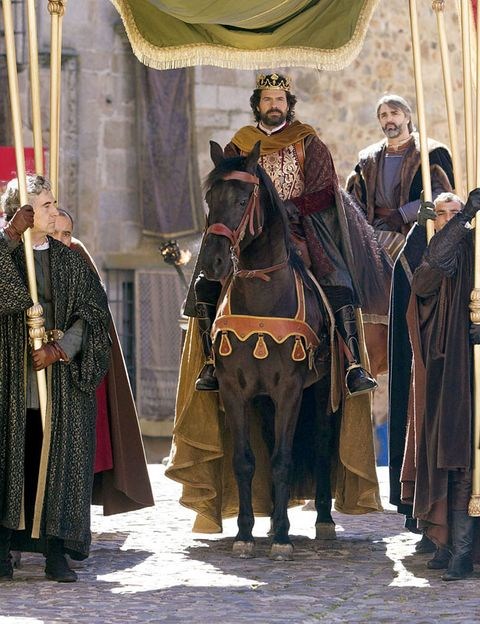 Horse supplies, Horse, Horse tack, Headgear, Bridle, Rein, Working animal, History, Middle ages, Costume,