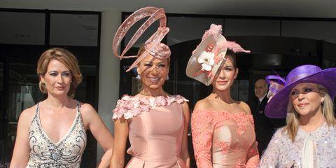 Face, Hat, Dress, Fashion accessory, Headgear, Costume accessory, Sun hat, Fashion, One-piece garment, Costume,
