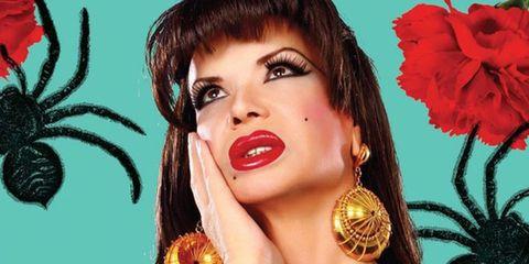 Lip, Hairstyle, Skin, Eyebrow, Eyelash, Petal, Earrings, Style, Fashion accessory, Amber,