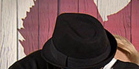 Jacket, Outerwear, White, Headgear, Costume accessory, Black, Leather jacket, Leather, Zipper, Back,