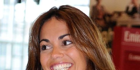 Smile, Lip, Cheek, Hairstyle, Eye, Denim, Forehead, Eyebrow, Eyelash, Facial expression,