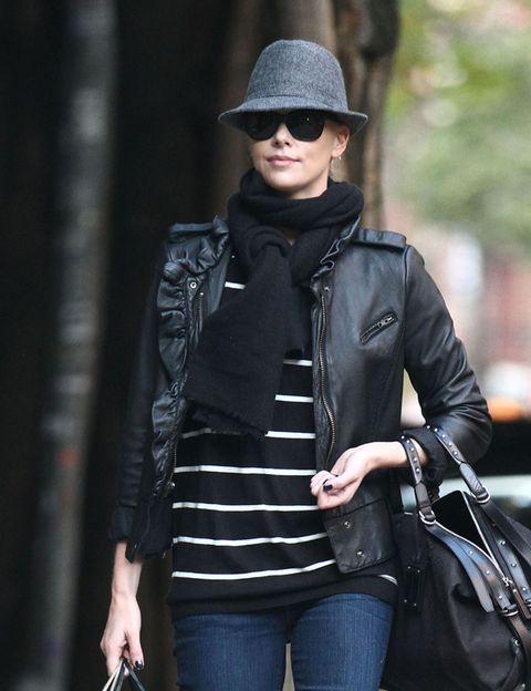 Clothing, Jacket, Denim, Textile, Jeans, Hat, Outerwear, Bag, Sunglasses, Style,