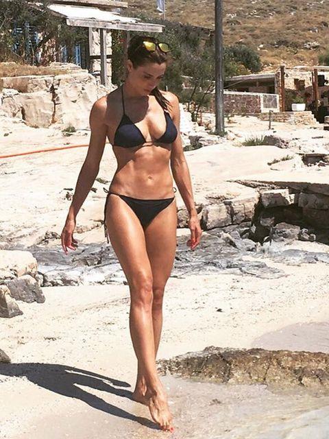 Clothing, Bikini, Swimwear, Undergarment, Beauty, Leg, Human leg, Vacation, Summer, Muscle,